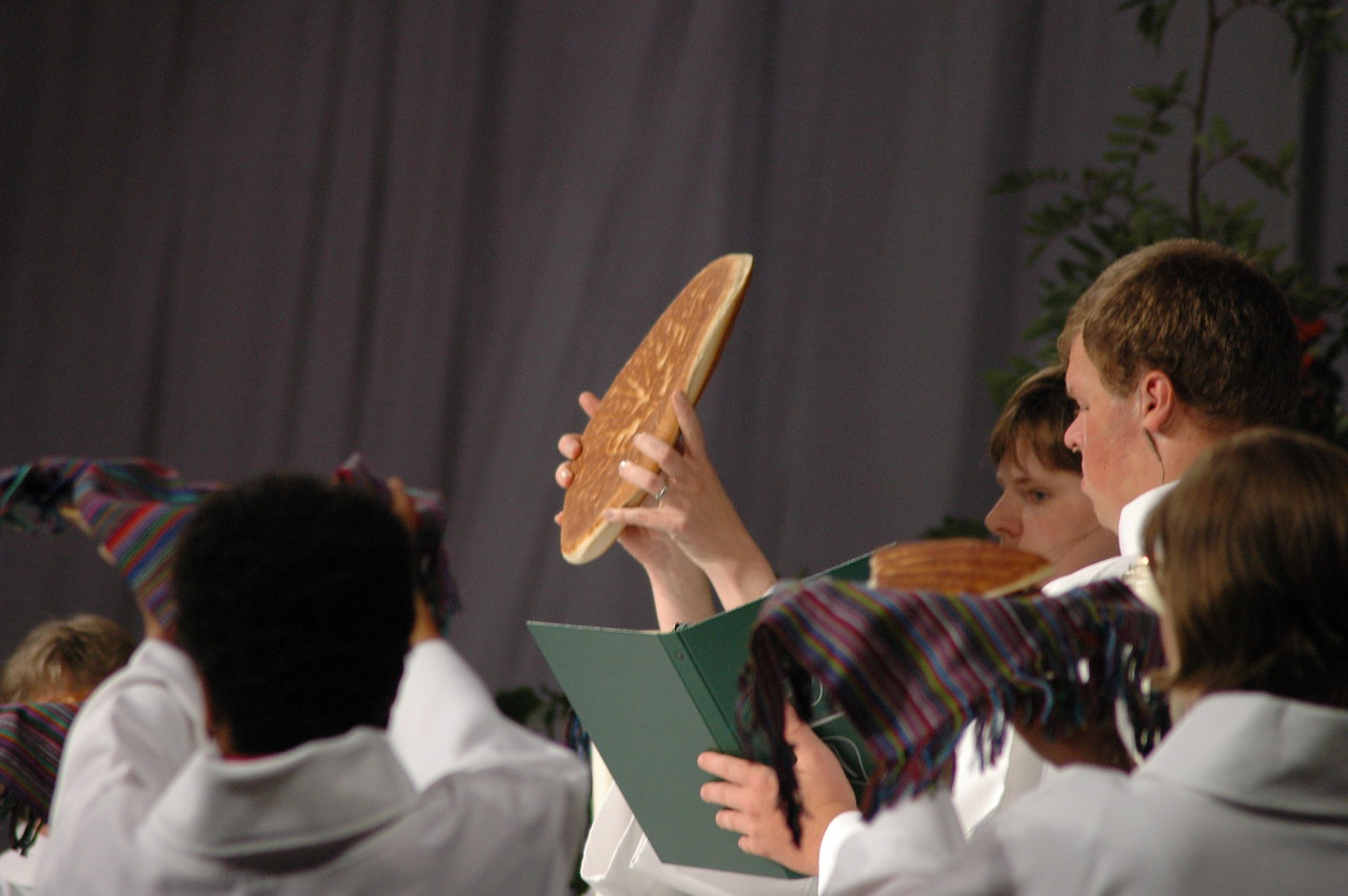Leading the Great Thanksgiving at Thursday Eucharist.