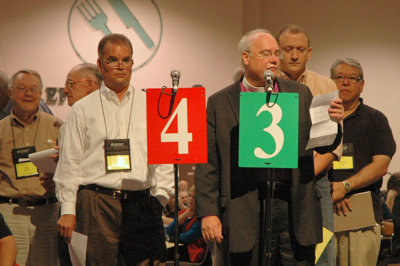 Minneapolis Area Synod bishop, the Rev. Craig Johnson speaks to an issue.