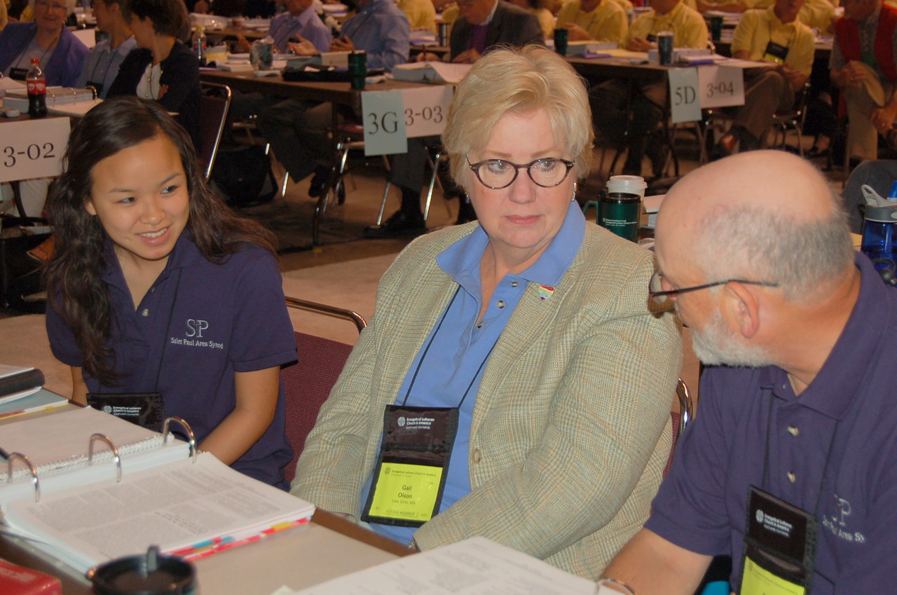 Voting members from the Saint Paul Area Synod.
