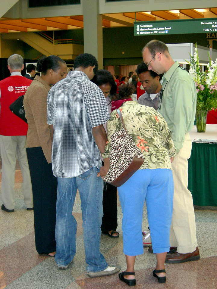 Local Christians come to pray for their brothers and sisters in Christ as they face difficult decisions.