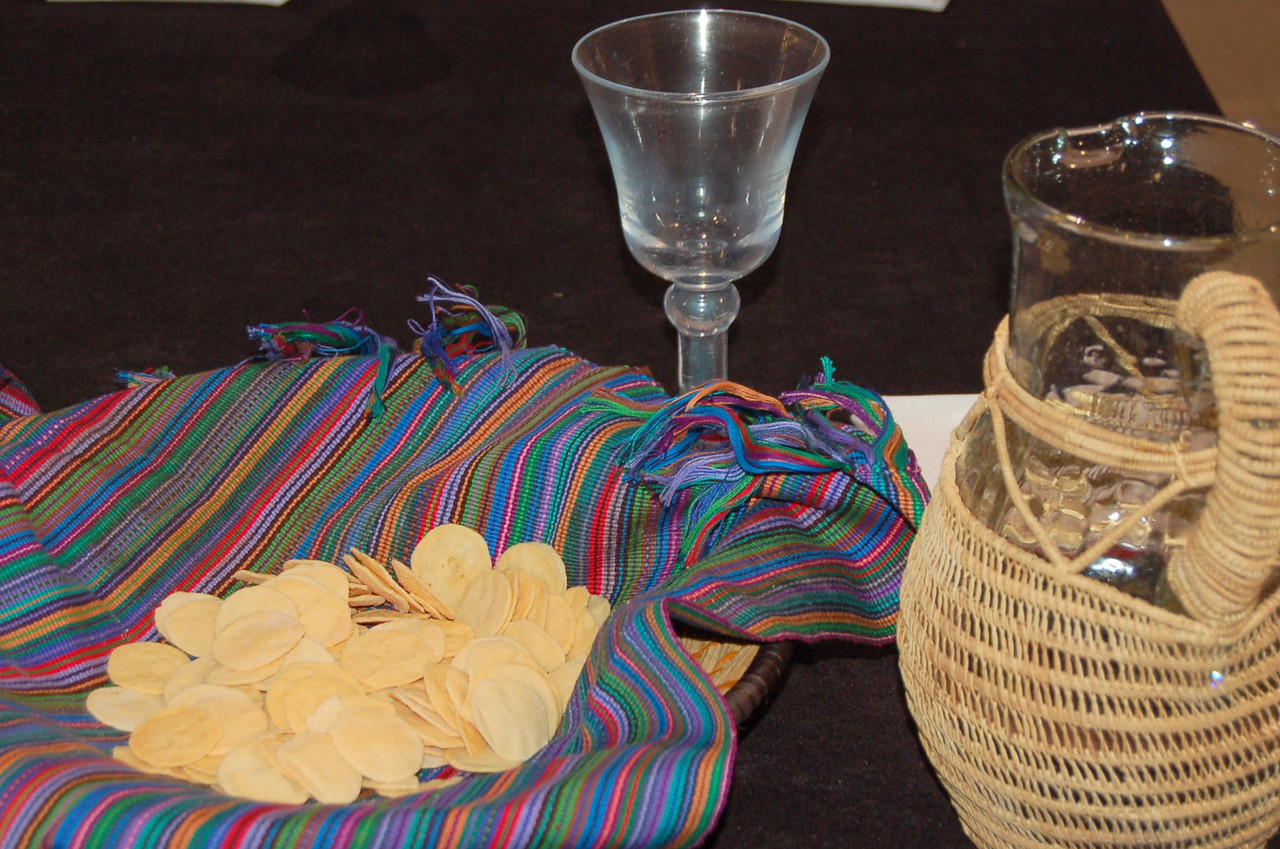 Gluten free wafers and de-alcoholized wine are used at one communion station every day.