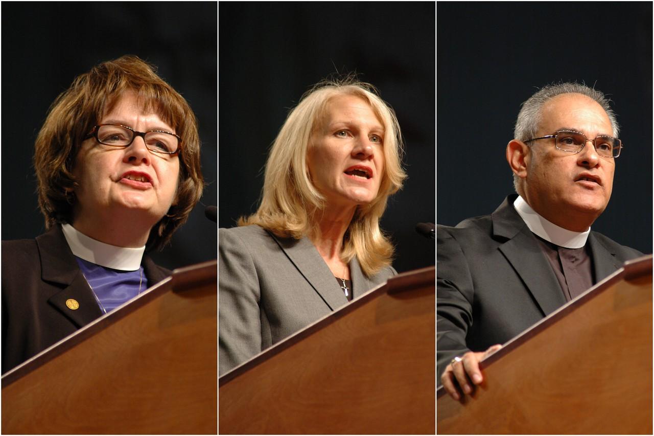 Lutheran Malaria Initiative leaders: the Rev. Andrea DeGroot-Nesdahl, Cynthia Halvorson and the Rev. Rafael Malpica Padilla.