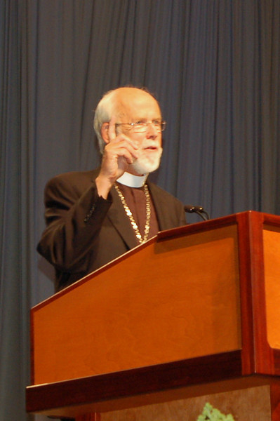 Presiding Bishop Mark S. Hanson during plenary session two.