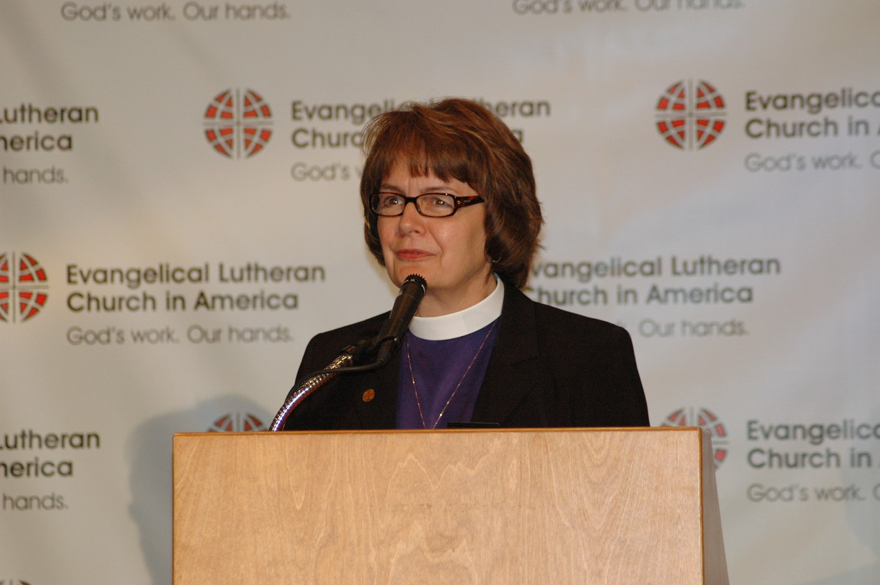 The Rev. Andrea DeGroot-Nesdahl, coordinator for the Lutheran Malaria Initiative