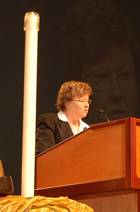 Dr. Norma Hirsch led the assembly in morning prayer. Dr. Hirsch is a member of the Church Council from Des Moines, Iowa.