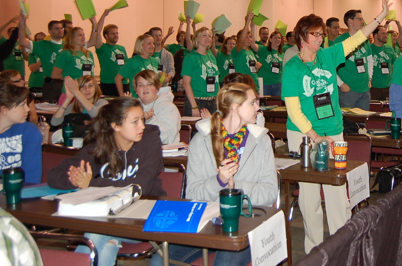 """Participants of the """"Affirming Young Leaders"""" event for ELCA rostered leaders are in their first call and are age 31 or younger."""