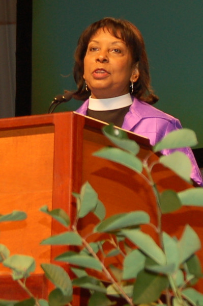 Wyvetta Bullock, executive for administration in the Office of the Presiding Bishop, presents the 2010–2011 budget proposal.