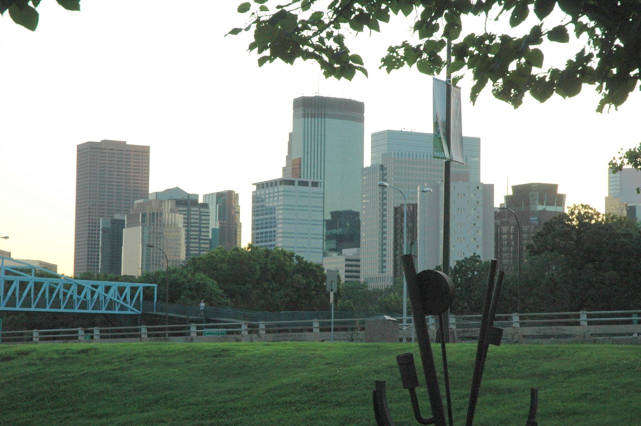 Minneapolis morning during Run, Walk, and Roll