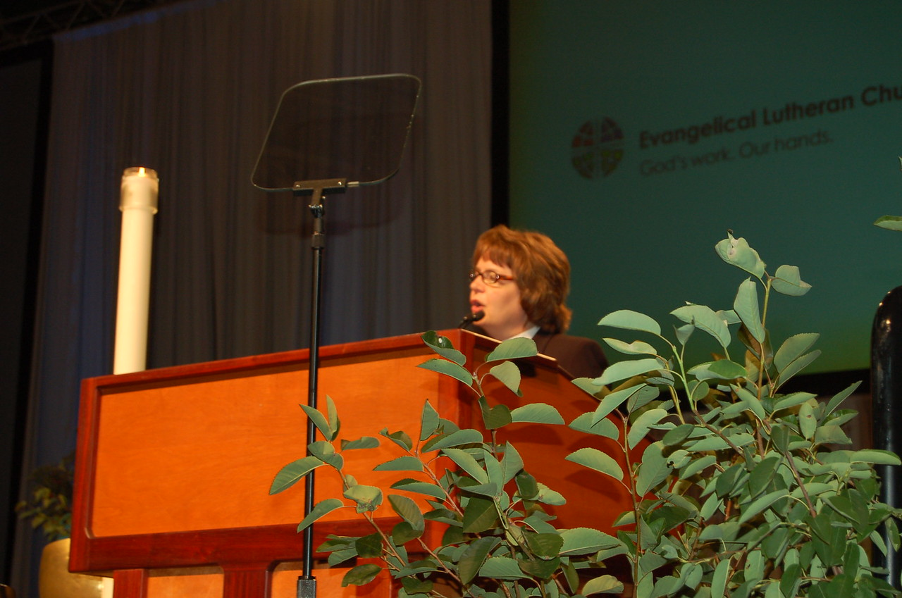 Pastor Andrea DeGroot-Nesdahl, coordinator for the HIV and AIDS Strategy and the Lutheran Malaria Initiative