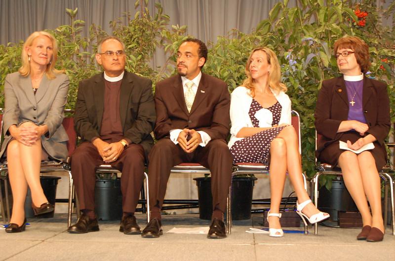 (left to right) Cynthia Halverson, executive director, ELCA Development Services; Pr. Rafael Malpica-Padilla, executive director, ELCA Global Mission Unit; Pr. John Nunes, president, Lutheran World Relief; Elizabeth McKee Gore, United Nations Foundation; Pr. Andrea DeGroot-Nesdahl, coordinator, Lutheran Malaria Initiative
