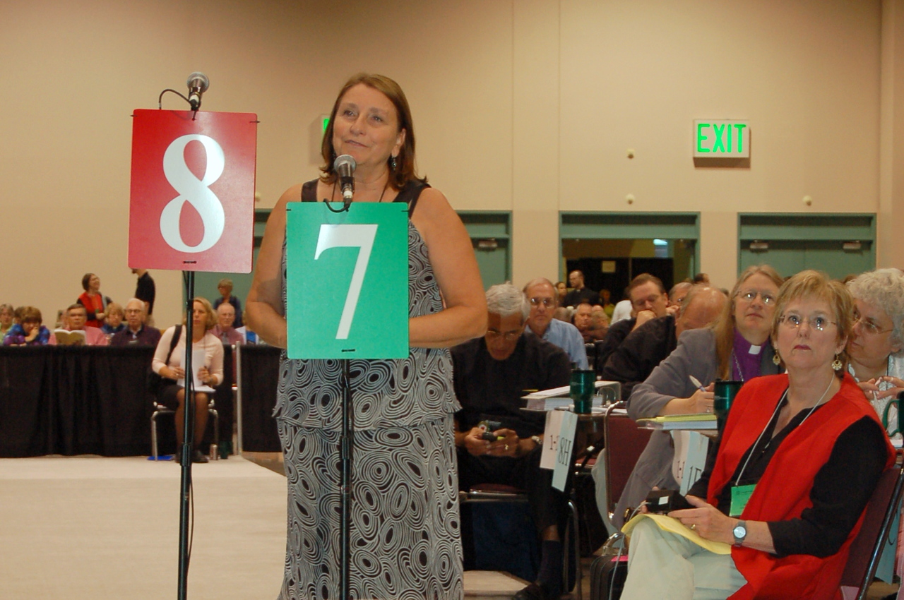"""Voting member from Indiana Kentucky Synod spoke in favor of the """"Worship and Educational Materials in Braille, Large Print, and Audio"""" memorial. She is a grandmother of a differently abled child."""
