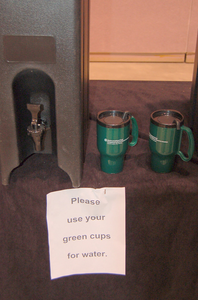 Participants environmentally conscious during the assembly.
