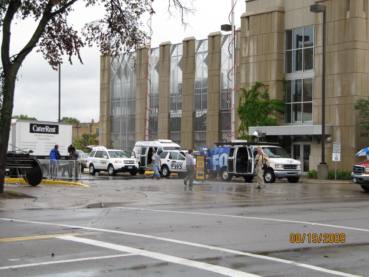News crews at the convention center to cover the 2009 Churchwide Assembly were right in the path of the tornado.
