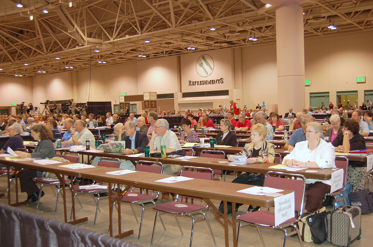 Synodical officers and staff prepare for plenary session four