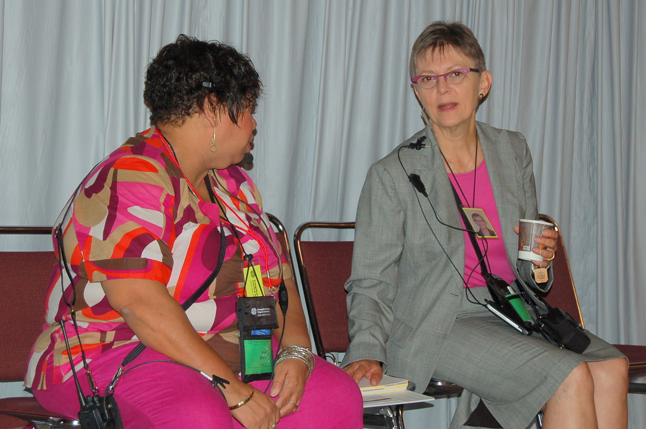 Ava Martin, director for Public Media in Communication Services and Kristi Bangert, executive director of Communication Services