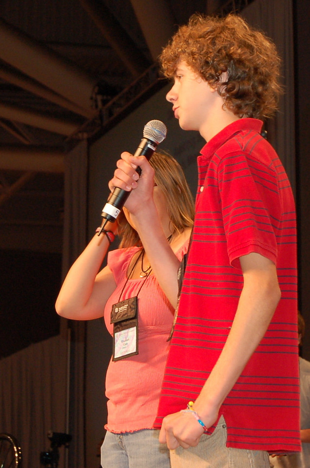 Participants in the Youth Convocation address the assembly.