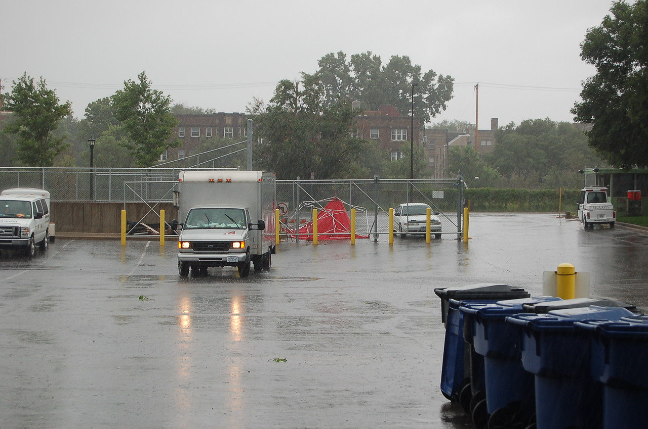 Rain after the tornado had passed.