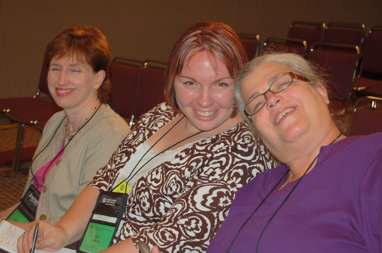 Communication Services staffers, Marianne Griebler, Karri Whipple, and Jan Rizzo pose for the camera.