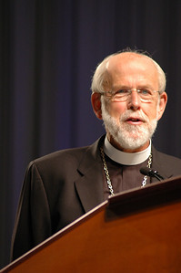 Presiding Bishop Mark S. Hanson during plenary session four.