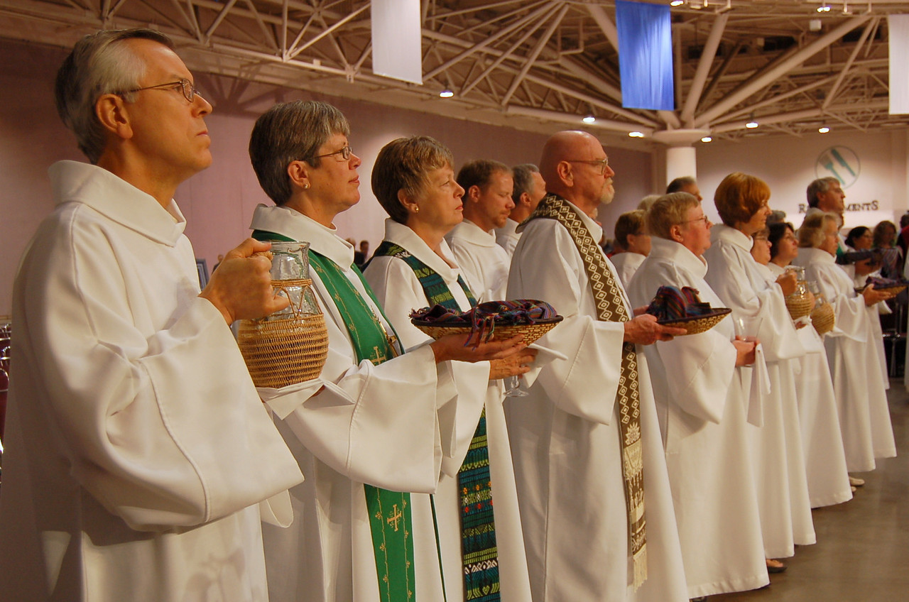 Communion Ministers for Wednesday's worship service.