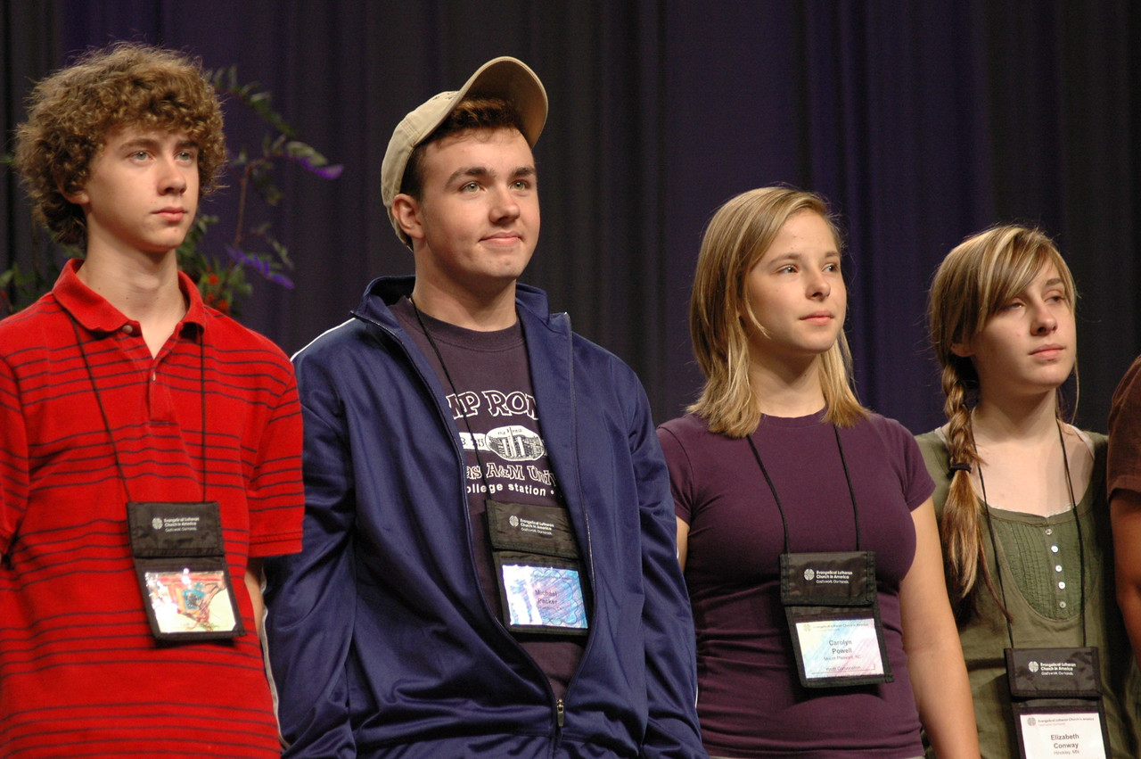 Representatives from the Youth Convocation.