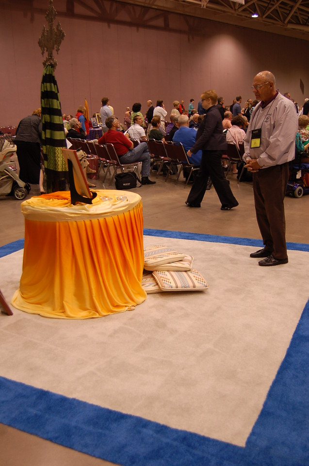 One of eight prayer centers inviting prayer in the worship hall.