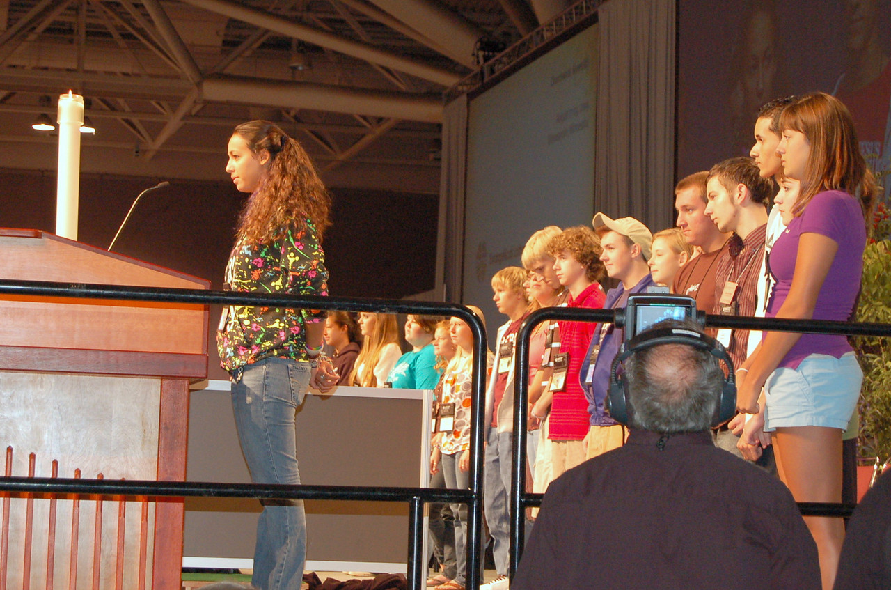 Youth Convocation representatives participating in the assembly.