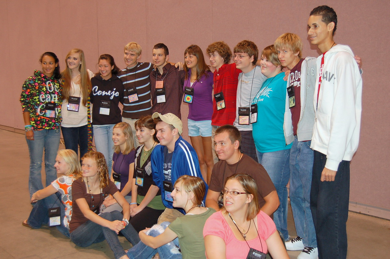 Youth from throughout the United States who brought greetings from the Youth Convocation.