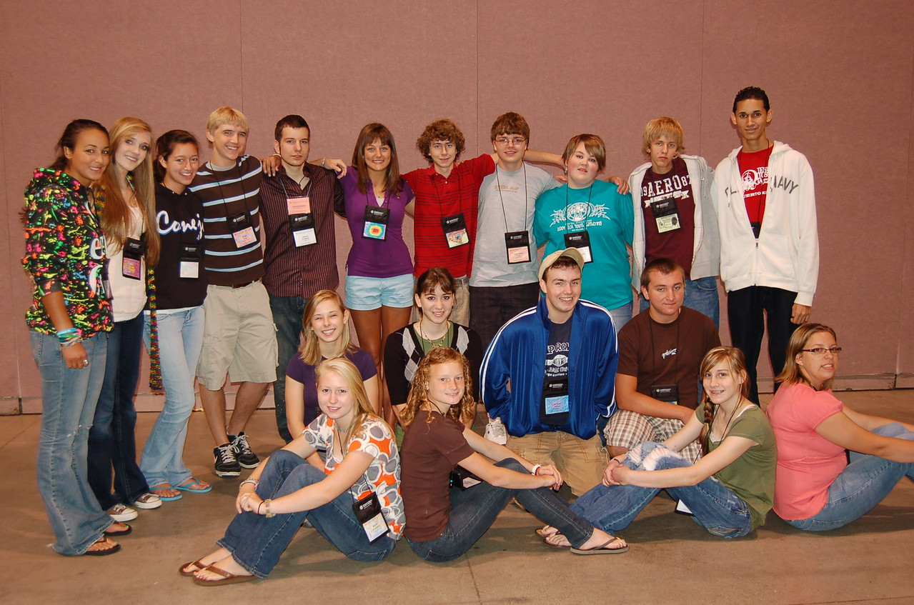 Youth Convocation poses for a group shot.