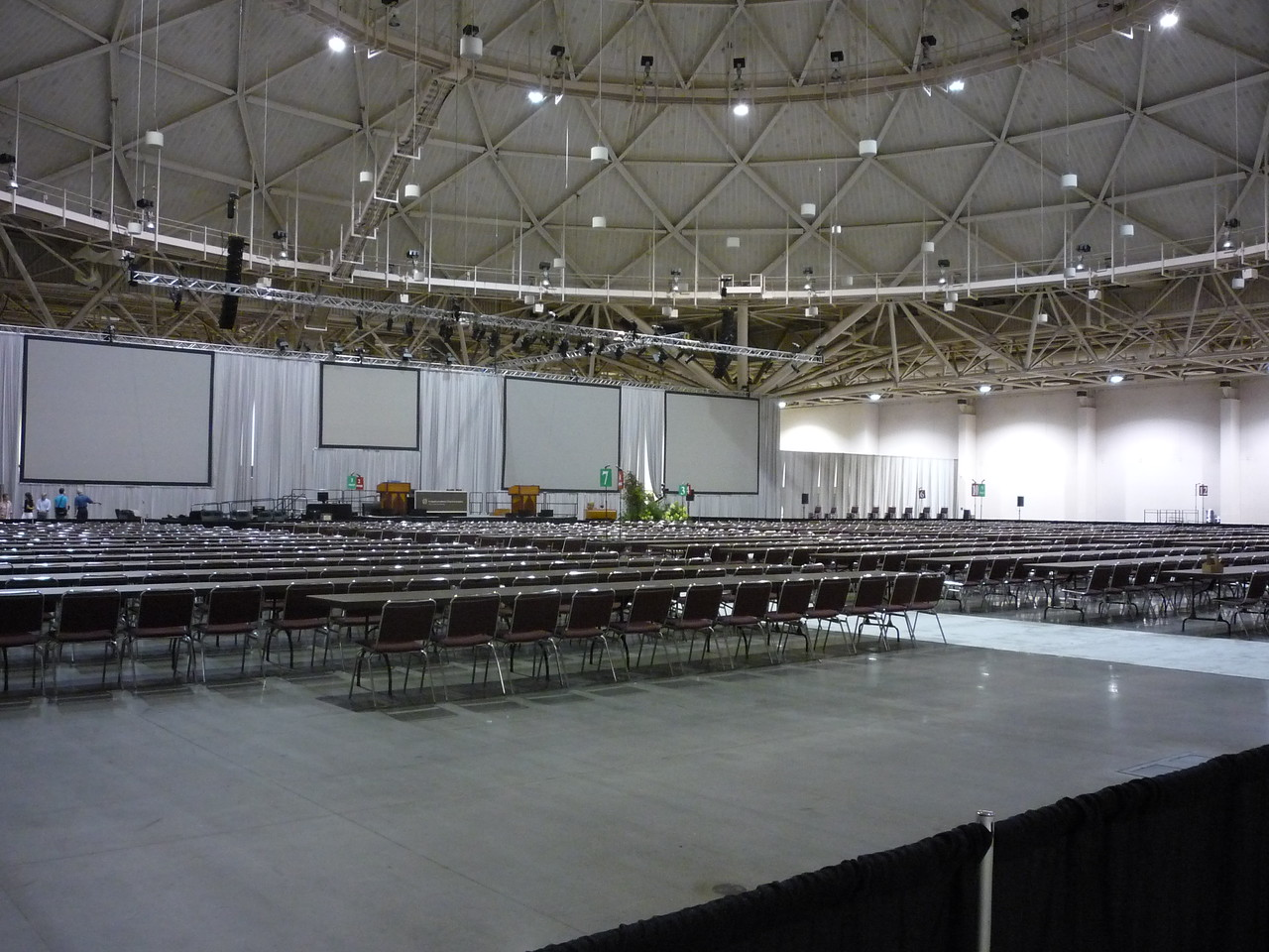 Hall E in the Minneapolis Convention Center.  This was shot on Sunday morning, August 15.