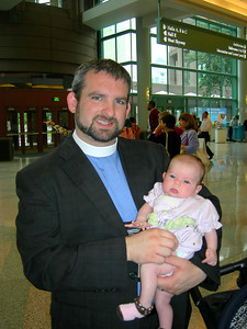 The Rev. Jon Vehar and future voting member, Hannah
