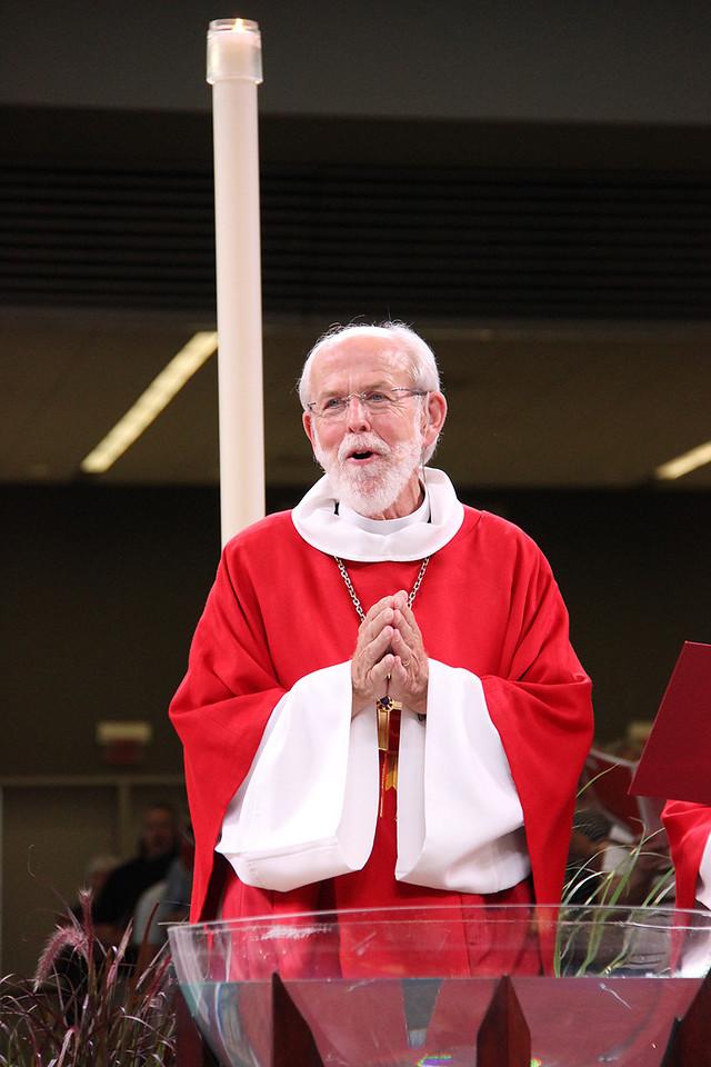 Bishop Hanson during worship services on Monday, August 13, 2013.