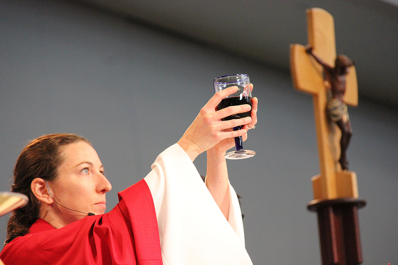 The blood of Christ shed for you.