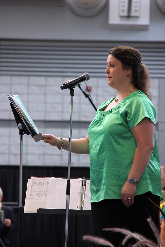 A singer accompanies worship.