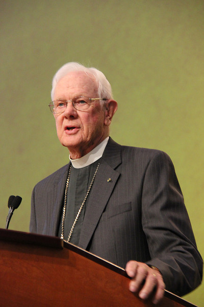 The Rev. Herbert Chilstrom, first/former presiding bishop of the ELCA, speaks to the Assembly.