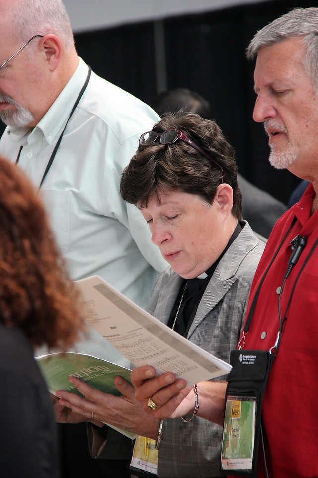 The Rev. Elizabeth A. Eaton, bishop-elect, participates in worship.