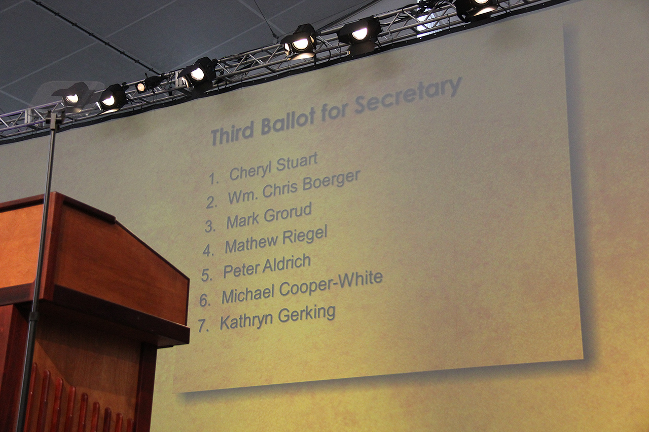 The top seven candidates for secretary are announced.