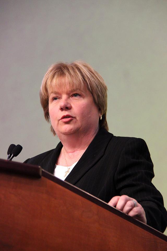 Cheryl Stuart, nominee for secretary, responds to questions.