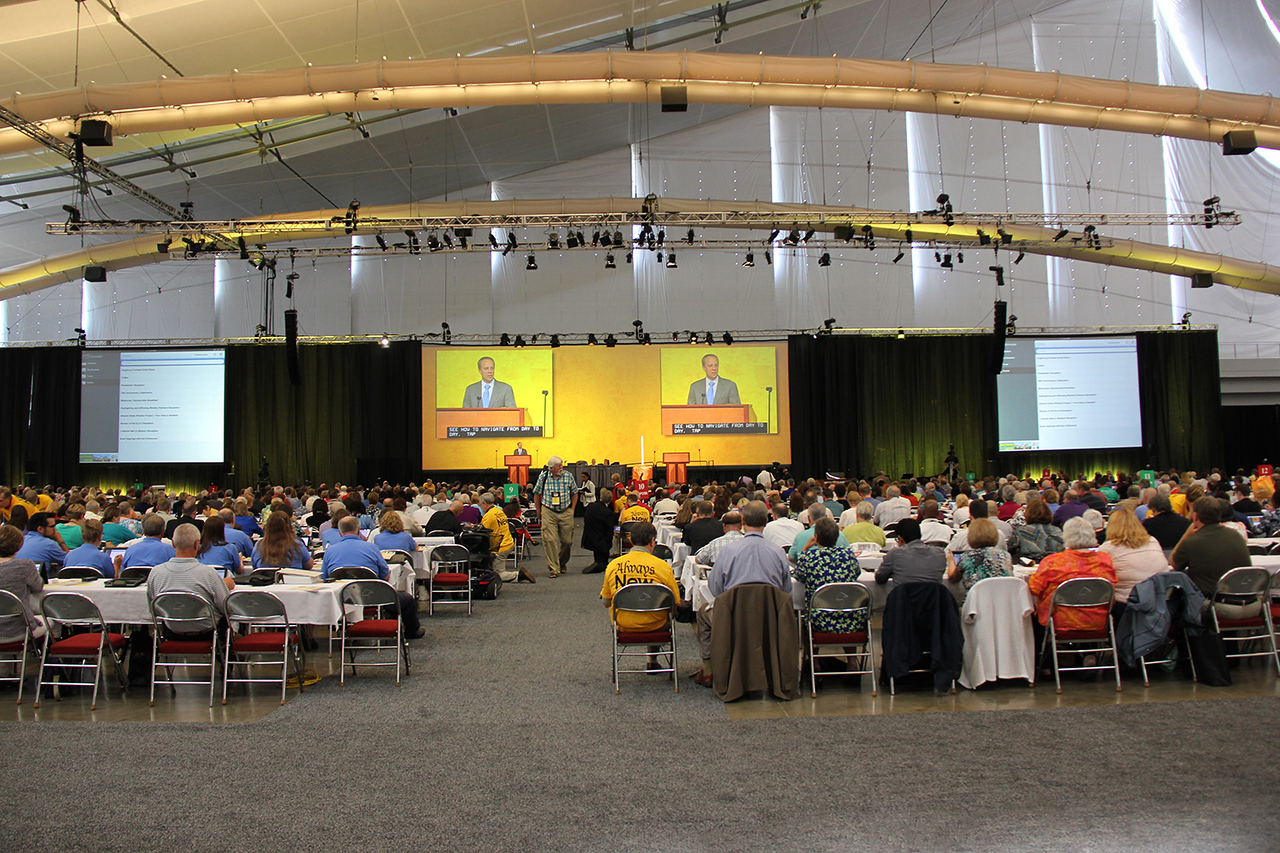 Voting members are trained to utilize the 2013 Assembly Guidebook.