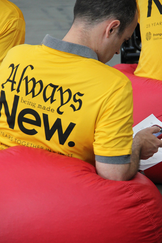 Guidebook helpers are identified by special yellow shirts.