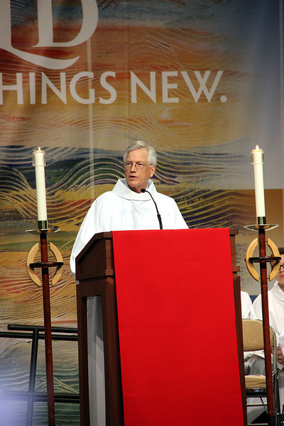 David Swartling, secretary of the ELCA, shares a reading.