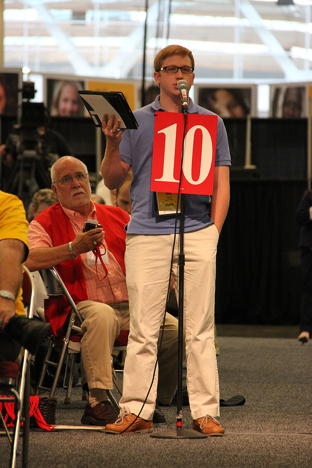 A voting member addresses the Assembly.