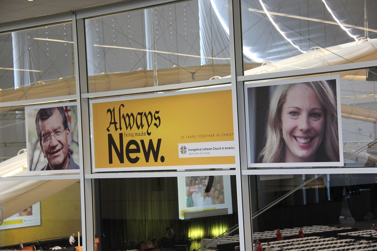 The 2013 ELCA Churchwide Assembly's theme: Always being made new. 25 years together in Christ.