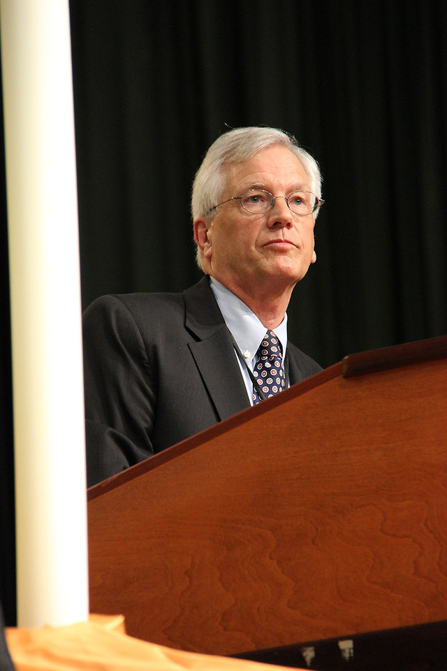 David Swartling, secretary of the ELCA, addresses the voting members.
