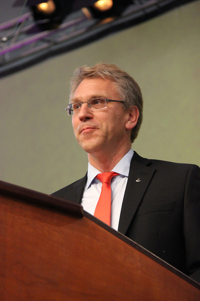 The Rev. Dr. Olav Fykse Tveit, general secretary of the World Council of Churches, speaks to the Assembly.
