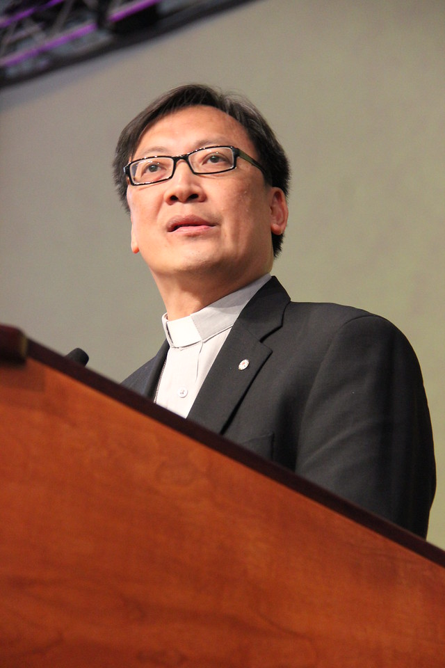 Bishop Philip Oi Peng Lok of the Lutheran Church in Malaysia and Singapore speaks to the Assembly.