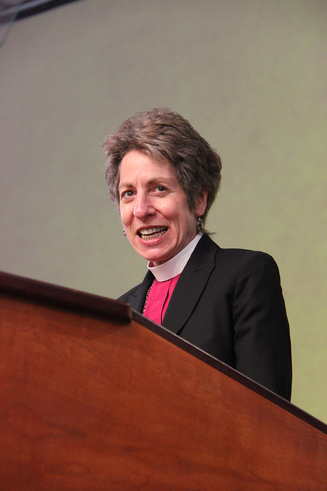 The Most Reverend Katharine Jefferts Schori, presiding bishop of The Episcopal Church, shares a greeting on behalf of the ELCA's full communion partners.