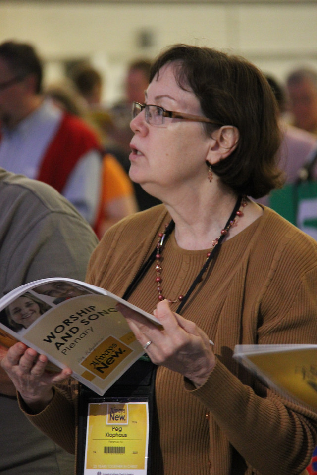Voting members participate during the second plenary on Tuesday morning, August 13.