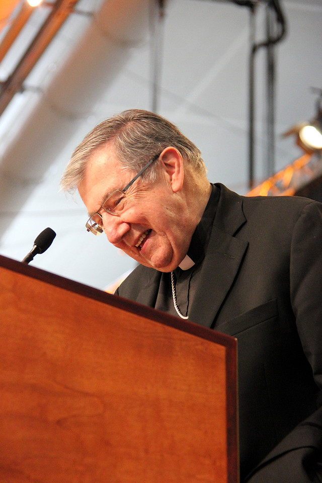 Bishop Denis Madden, Auxiliary Bishop for the Archdiocese of Baltimore and the chair of the Bishops Committee on Ecumenical and Interreligious affairs of the United States Council of Catholic Bishops, greets the Assembly.