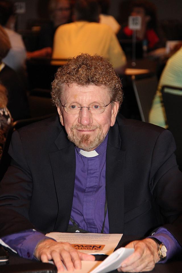 Bishop Leonard H. Bolick, ELCA North Carolina Synod, participates in Bible study.
